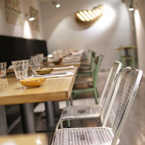 Cenar en grupo en Madrid barrio Salamanca