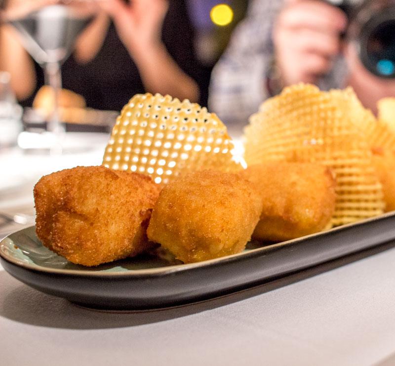 Restaurante Cañadío Madrid croquetas