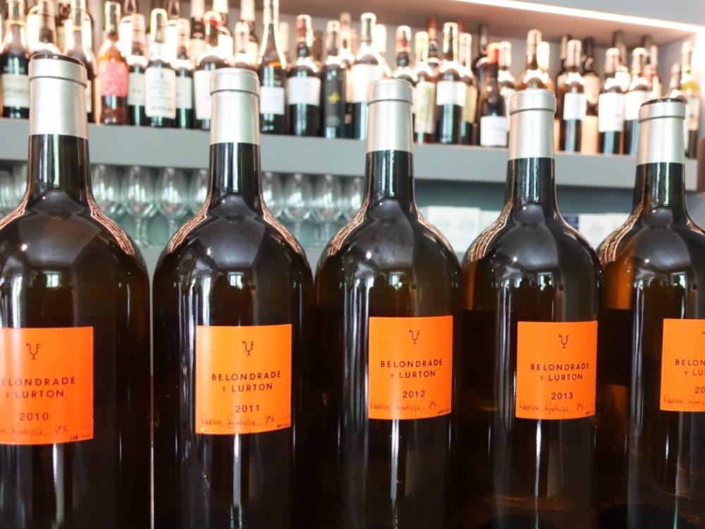 Botellas en el aniversario de Belondrade y Lurton