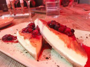 Tarta de queso del restaurante Ottica en Madrid