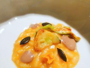 Arroz calabaza menú del restaurante Cebo