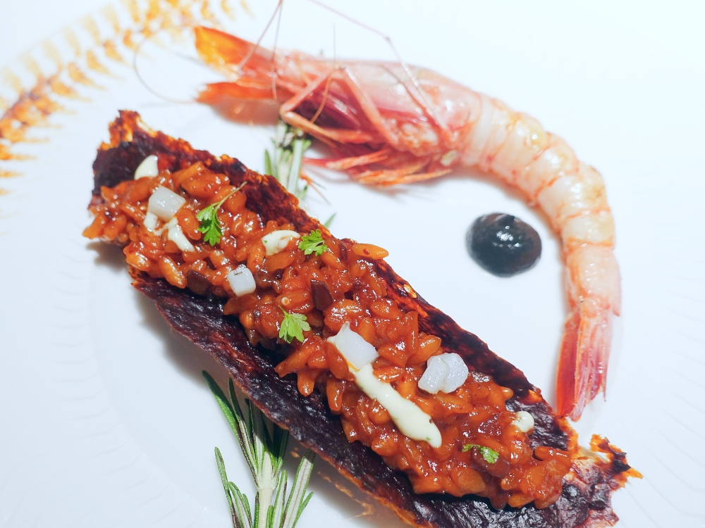 Arroz salmorreta alicantino menú del restaurante Cebo