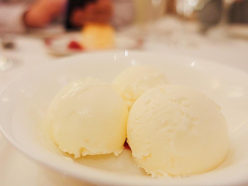 El helado de queso del restaurante Ox's de Madrid