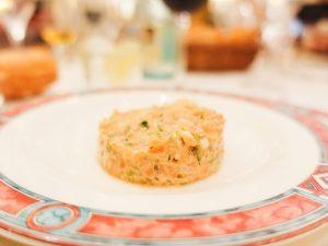 El tartar de salmón del restaurante Ox's de Madrid