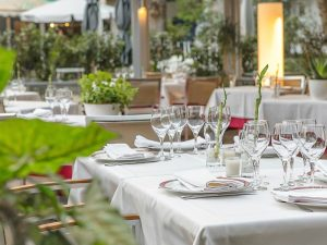 La terraza del restaurante Ox's de Madrid