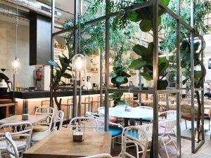 La decoración del restaurante Alboroto en Madrid