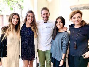 El chef Javi estévez en el showcooking de la pasta La Molisana en Cocinea