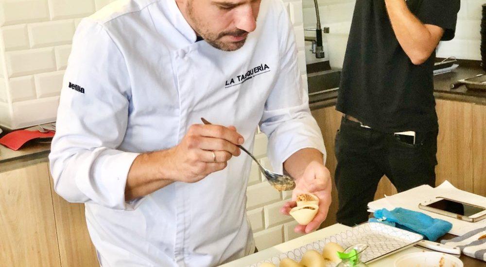 Showcooking de Javi Estévez con pasta La Molisana