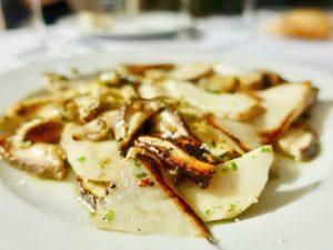 Boletus en el restaurante Tejas Verdes en Madrid