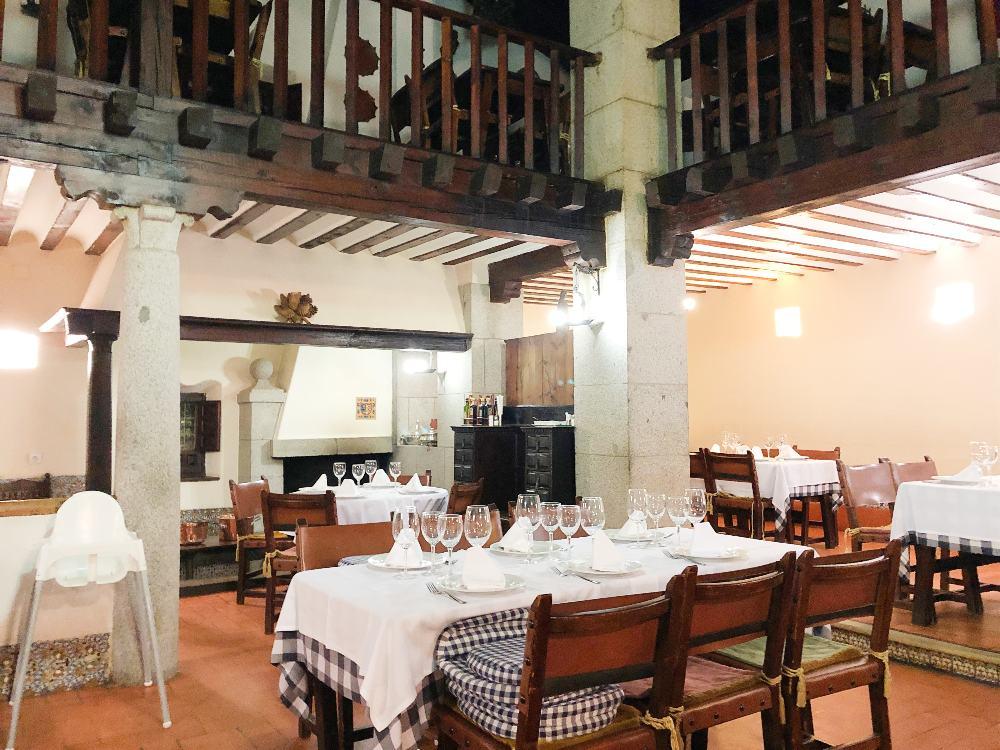 El restaurante Tejas Verdes por dentro