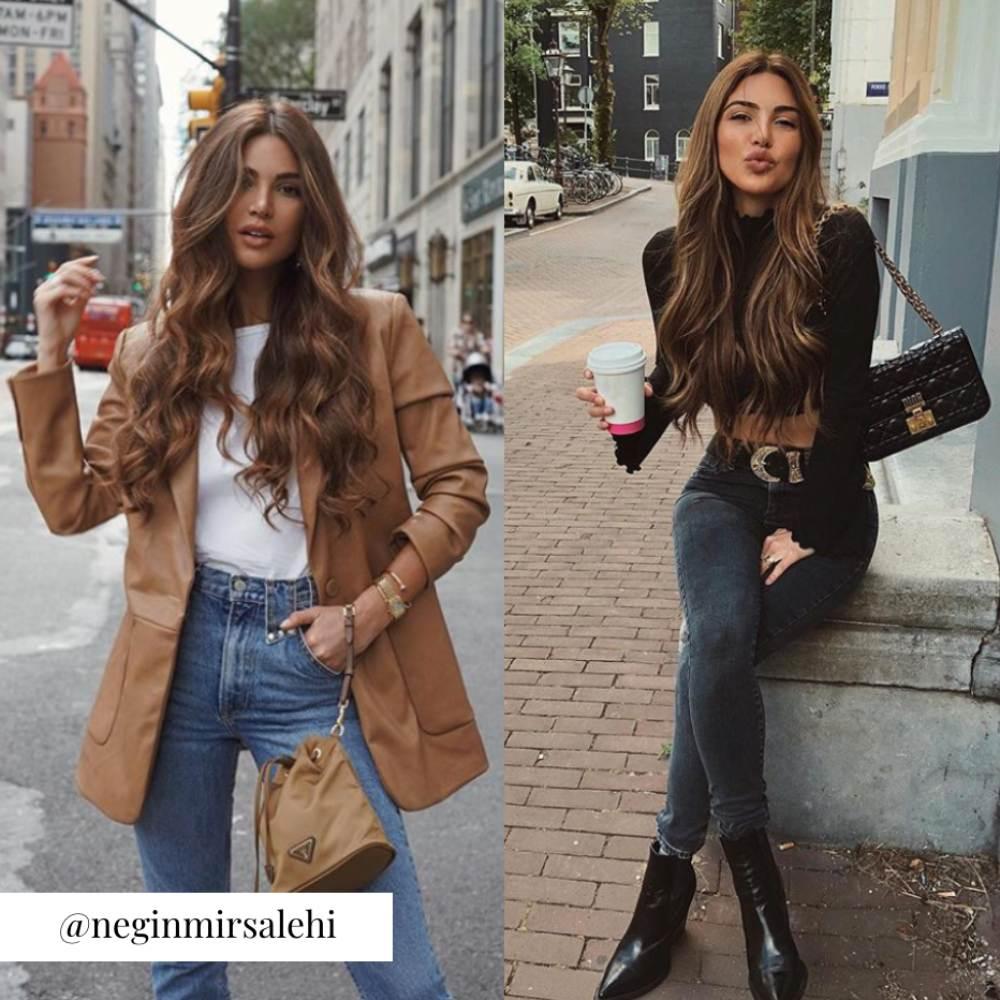 Significado de moda casual, ejemplo Negin Mirsalehi