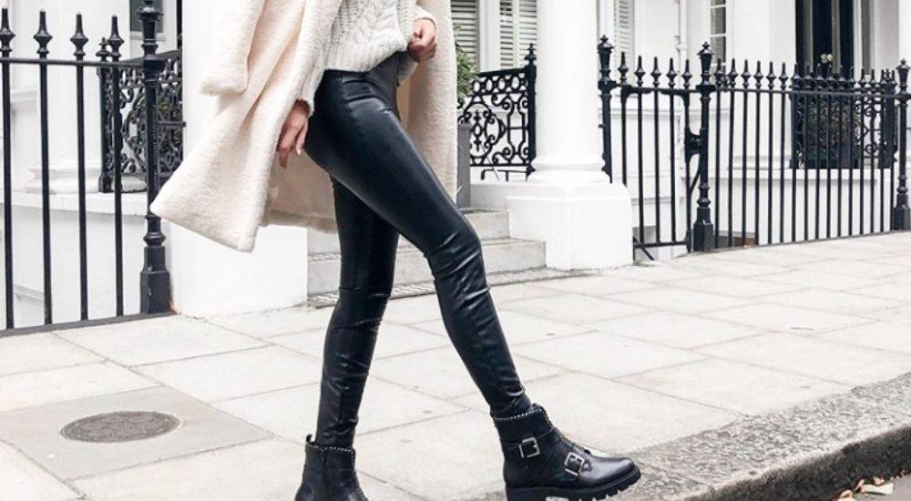 Leggins o leggings de cuero en invierno