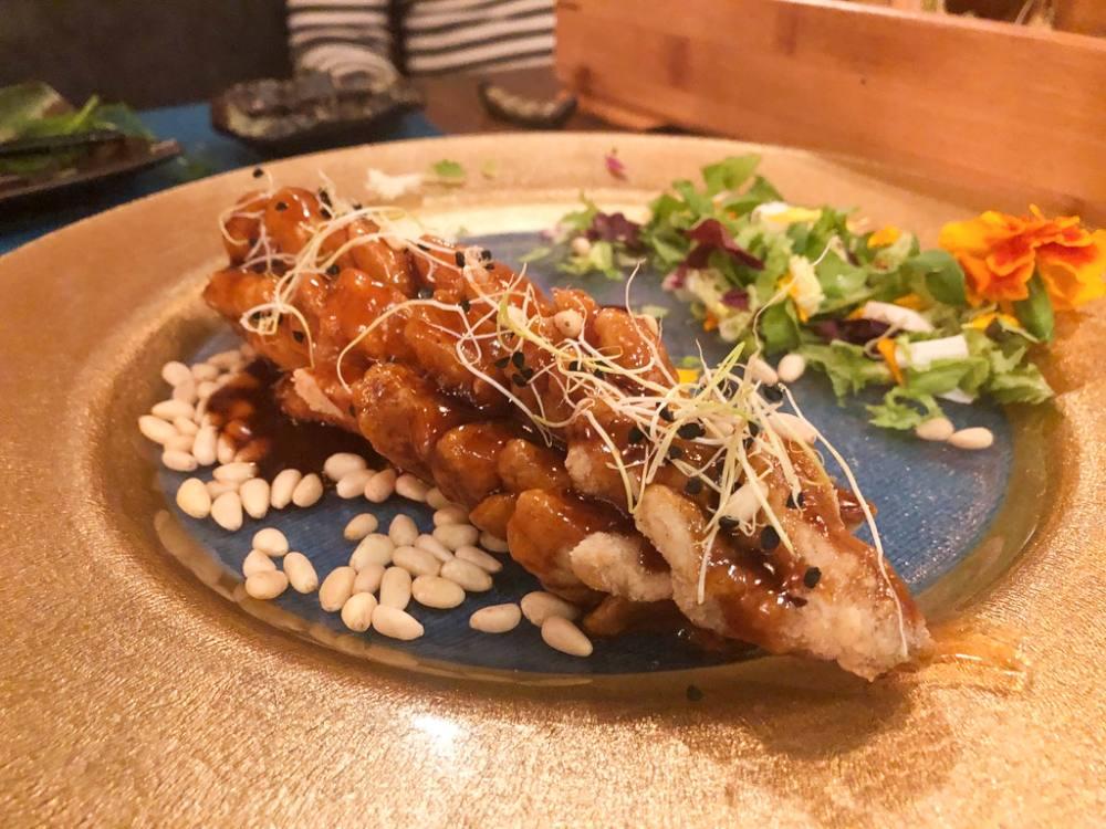 La lubina del restaurante Kiboka