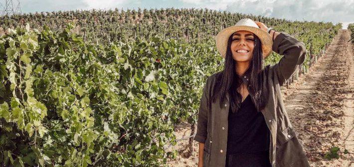 Karime en la vendimia de Belondrade