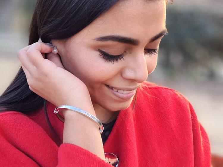 Karime con la pulsera LineArgent