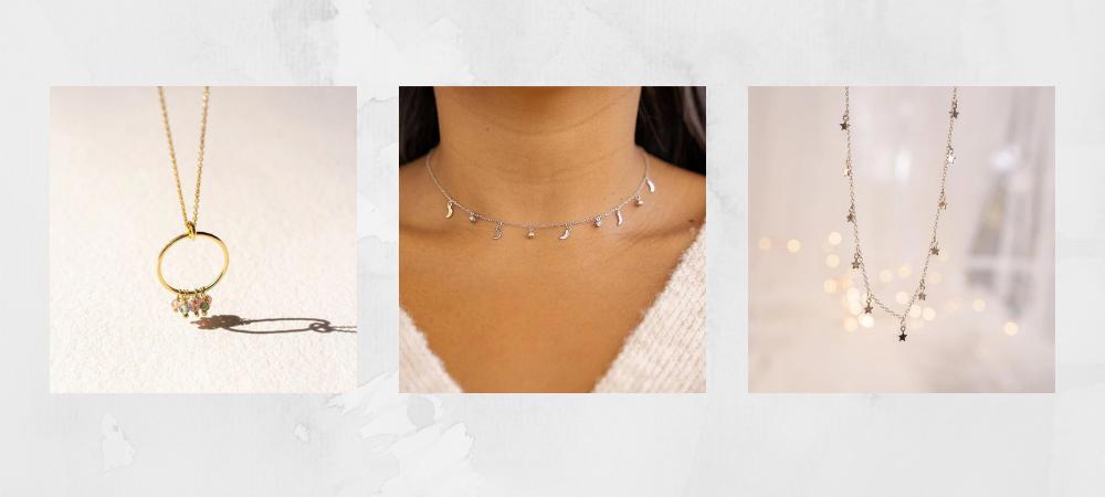 Collares con valores de la nueva marca de joyas Eme de Magia que son tendencia este 2021.
